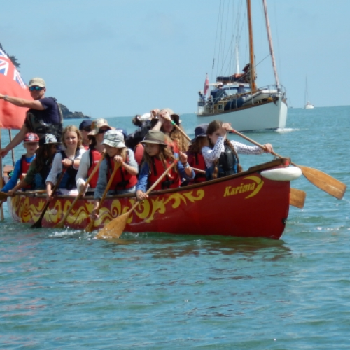 school expedition mouth of river dart with Canoe Adventures