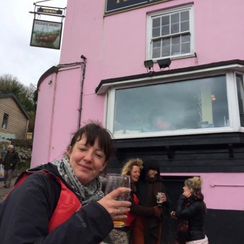 pub stop with Canoe Adventures