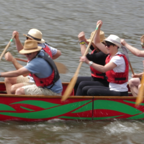 races and teambuilding with Canoe Adventures