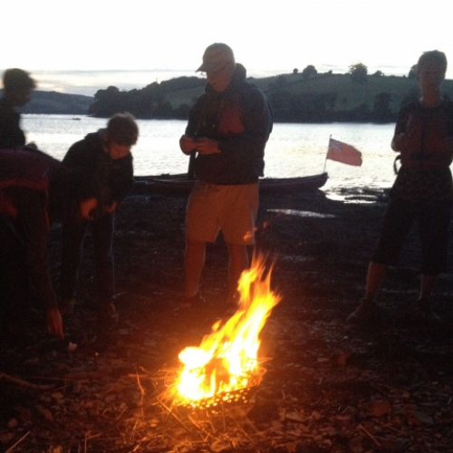 fire and story telling with Canoe Adventures
