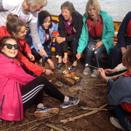 marshmallows with Canoe Adventures