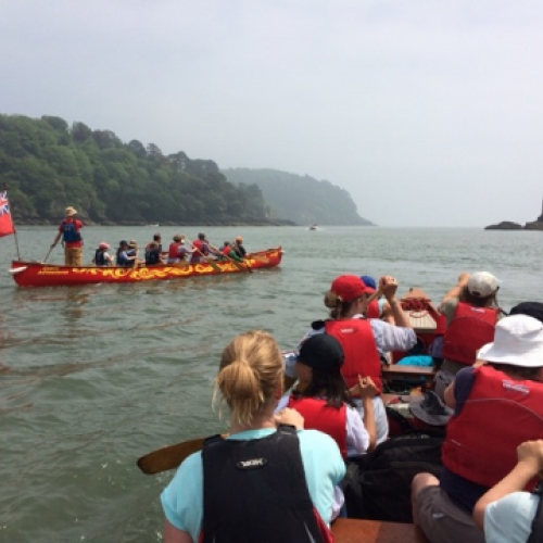 Approach to mouth of River Dart Estuary with Canoe Adventures