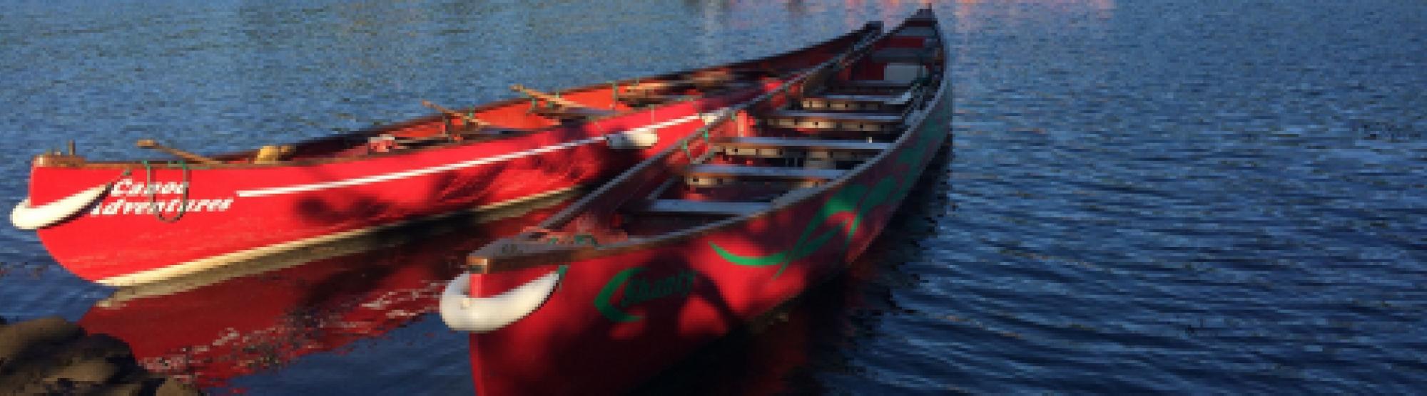 big canoes with Canoe Adventures